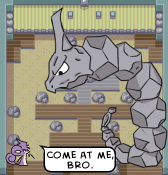 Spoiler alert: Onix chickened out and gave the match.